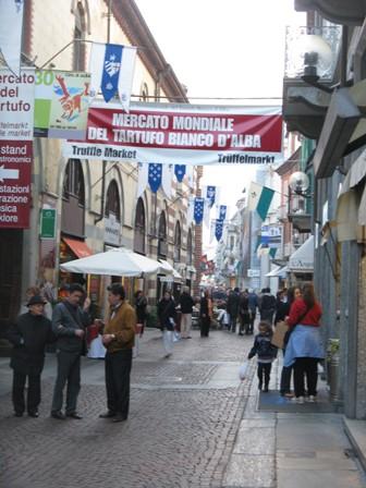 Alba's centre near the Truffle Market.