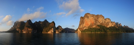 Cheong Larn Lake in Khao Sok National Park.