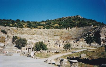 Ephesus theatre.