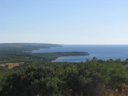 Gallipoli Peninsula countryside looking southeast to The Dardanelles.