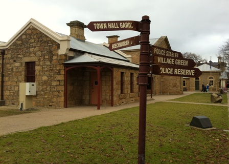 Beechworth's historic precinct road sign.