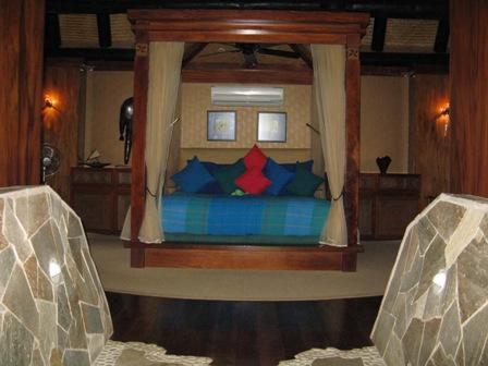 JM Cousteau resort villa bedroom.