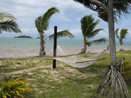 JM Cousteau resort hammock.