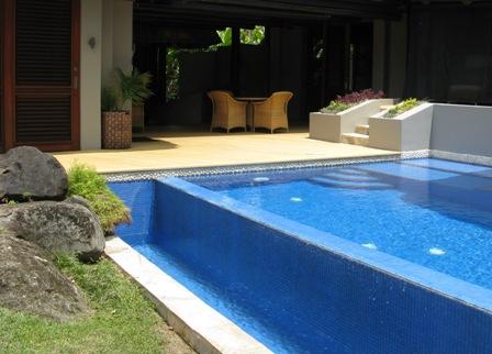 JM Cousteau resort villa pool.