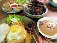 Jakarta feast with satay