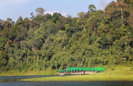 Khao Sok National Park Rainforest Camp on Cheong Larn lake.