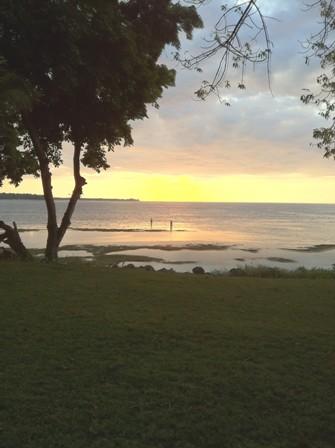Sunset from Pool Villa 114.