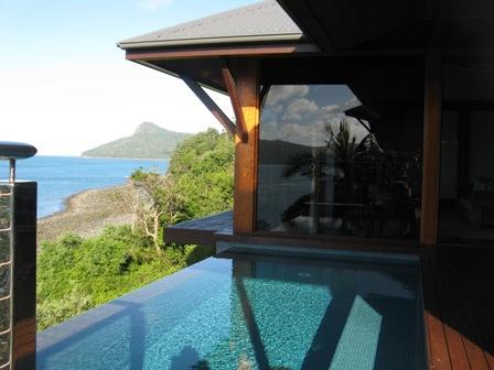 Qualia pool villa exterior.