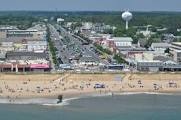 Downtown Rehoboth in summer overview