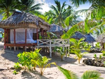 Samoan beach fale.