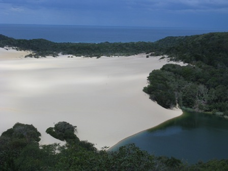 Fraser Island sandblow.