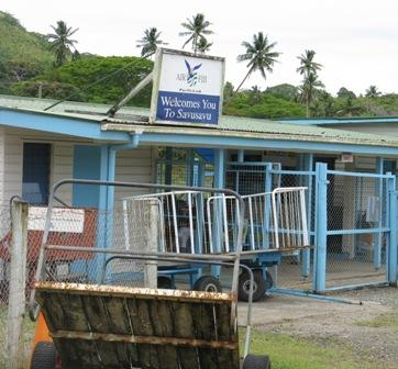SavuSavu airport terminal buidling.