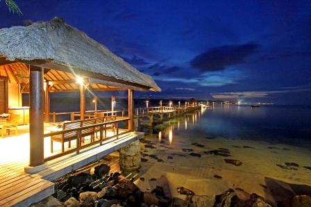 The Oberoi Lombok Beach Club jetty.