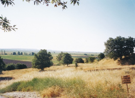 The plain of Troy looking towards The Dardanelles.