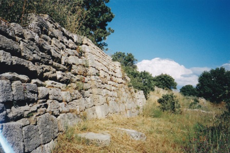 An excavated section of the ancient walls of Troy.
