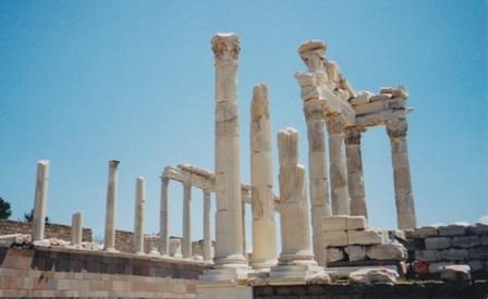 Pergama's Asklepion temple ruins.