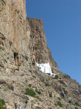 Panagia of Hozoviotissos monastery on Amorgos' southern coast.