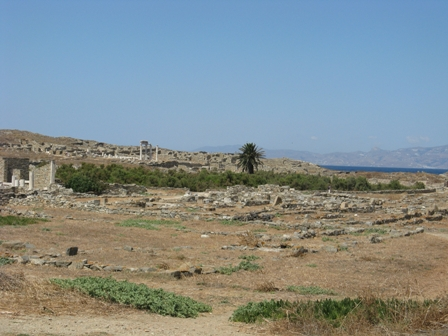 Delos Sacred Pool where the god Apollo was born.