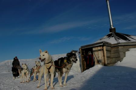 Main dog camp outside Longyearbyen, Svalbard.