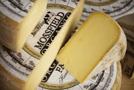 Some of Mossfield's prize cheeses.