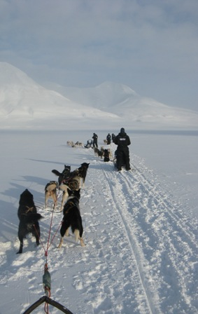 Mushing en route to a glacier.