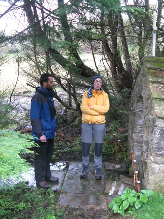 Rob and Nuala at sacred spring in North Leitrim.