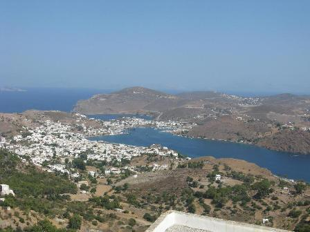 Patmos harbour seen en route to St John's monastery.