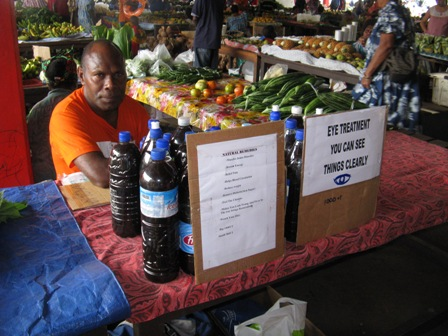 Port Vila market stall holder.