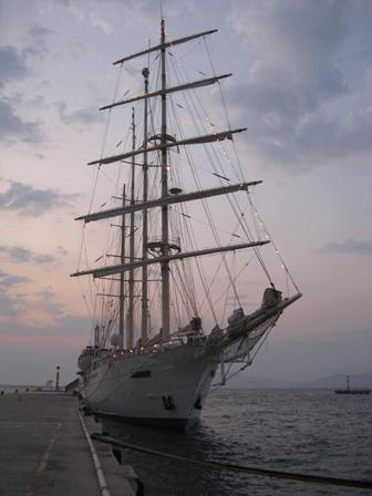 Star Clipper moored at Kusadasi.
