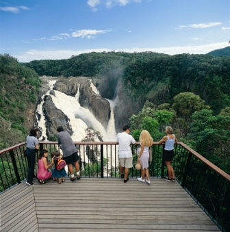 Barron Falls lookout from KSR stop near Kuranda.