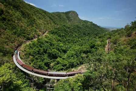 KSR passing over Stoney Creek en route to Kuranda from Cairns.
