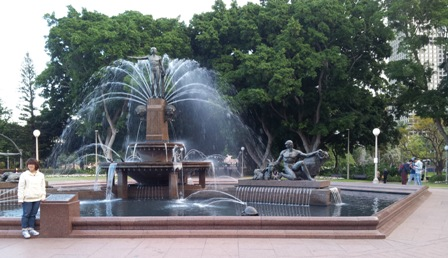 Archibald Fountain in Hyde Park.