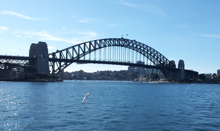 Harbour Bridge towards Lower North Shore.