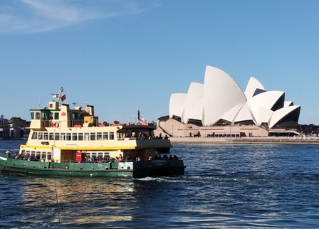 Opera House and ferry.