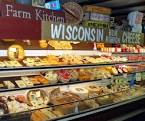 Wisconsin cheese display.