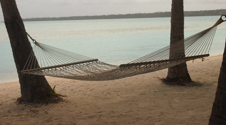 Beach hammock at Aitutaki Lagoon Resort & Spa
