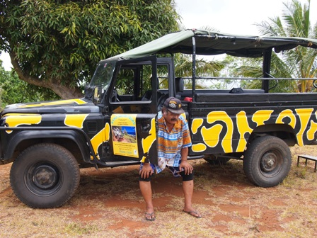Mr Useless of Raro 4WD Safari taking a much needed break