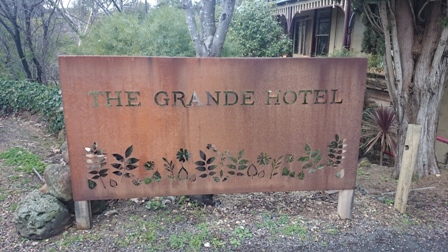The Grande Hotel sign