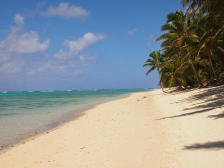 Titikaveka beach on Rarotonga