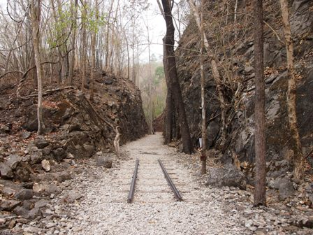 Hellfire Pass on the 'Death Railway', the Thai-Burma Rialway