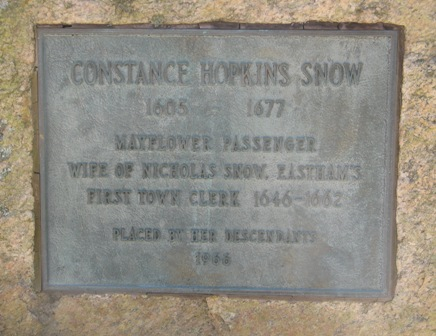 Constance Hopkins Snow gravestone