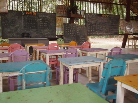 Mon village schoolroom