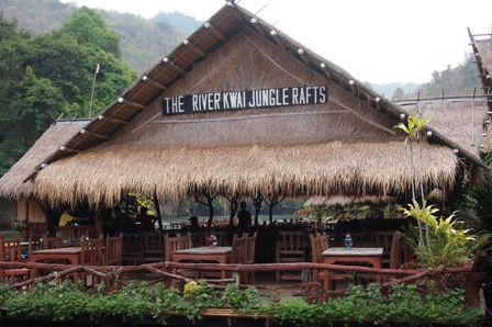 River Kwai Jungle Raft camp sign