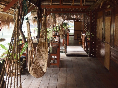 River Kwai Jungle Raft camp rooms and verandas