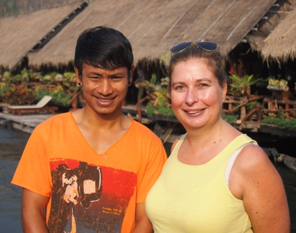 Sam Season and Christine Retschlag at River Kwai Jungle Raft camp