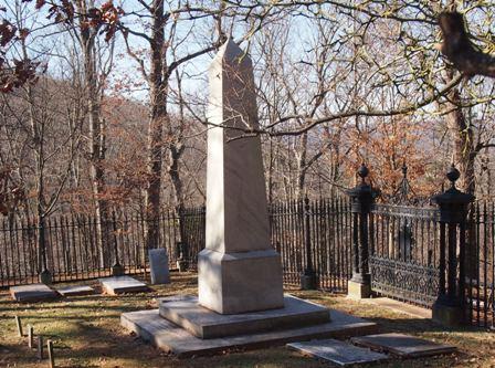 Thomas Jefferson's grave at Monticello
