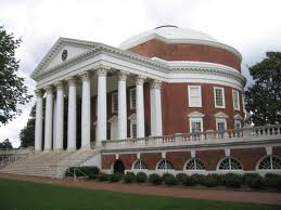 One of the University of Virginia buildings designed by Thomas Jefferson