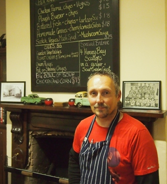 Andrew Roscouet chef owner at the Plough Inn