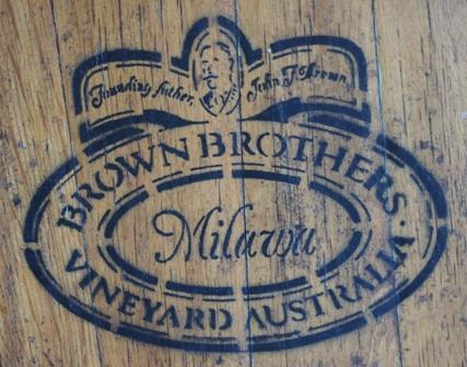 Brown Brothers barrel