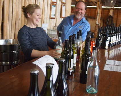 Colleen and David Maples, daughter and father team at Gracebrook cellar door